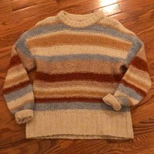 American Eagle XS color blocked sweater